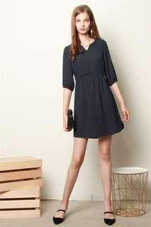 🚚 Brand new ACW Babydoll Sleeved Dress In Navy size M
