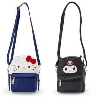 Sanrio Hello Kitty, Kuromi, Pompompurin 2-Way Bag