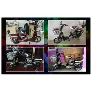 Sepeda Super Rider Elektrik Sepeda Listrik Earth Platinum Paling Mura