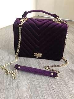 Katie Judith 靚靚紫色絲絨手袋