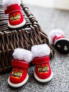 🚚 [PO] Chinese New Year Dog Shoes