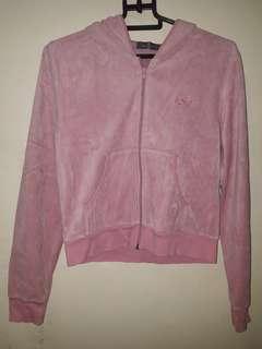 Naf Naf Pink Velvet Hoodie