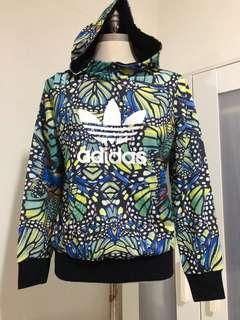 🚚 Adidas花卉連帽上衣