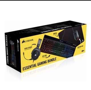 Corsair Essential Gaming Bundle HS50 Harpoon mm100 K55 RGB