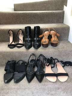 6 pairs of shoes for 60$ size 38/7