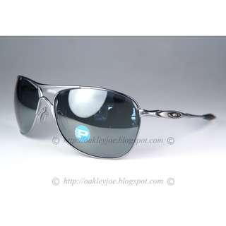 a90c0c068a BNIB Oakley Crosshair lead + black iridium polarized oo4060-06 sunglass  shades
