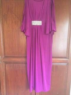 Marks & Spencer Embellished Purple Kaftan Maxi Dress