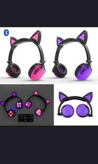 LED Cat Ear Headphones/ Cat Ear Speaker!