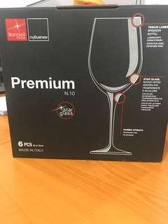 6 Pcs Premium Bormoli Rocco wine glass