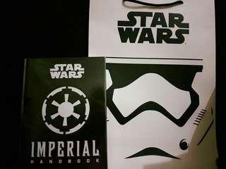 Star Wars Imperial Handbook with stormtrooper bag