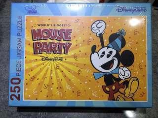 迪士尼 米奇 砌圖+4張珍藏卡 Disney 90週年 會員限定 Puzzle 250塊
