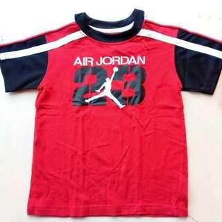 AIR JORDAN TSHIRT SIZE 4T BOYS (RED AND BLACK)