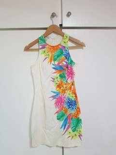 Suite Blanco White Tropical Dress
