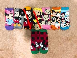 Disney Mickey Minnie Mouse Cartoon Socks