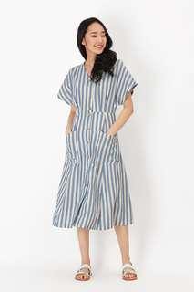 🚚 AForArcade Kelly Striped Pocket Dress in Blue (AFA)