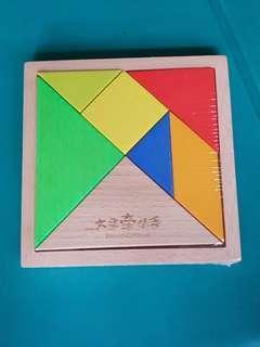 Wooden puzzle 七巧板
