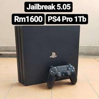 (Jailbreak) PS4 Pro 1 TB 5.05 Sony Playstation 4