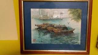 Original local watercolor painting