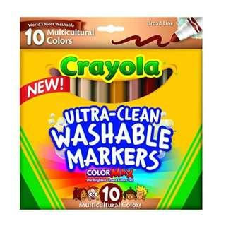 🚚 Crayola Ultraclean BL Multicultural Markers (10 Count)