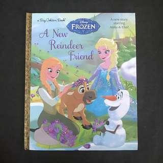 💥 NEW -  Frozen A New Reindeer Friend Large Story book - A Little Golden book - Children Story Book