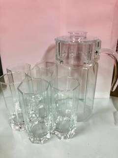 🚚 玻璃冷水壺、水杯組