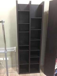 Dark Brown Bookcase 2pcs