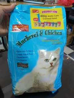 Aristo 1.5kg Dried Cat Food 1.5kg FREE 400G Canned food