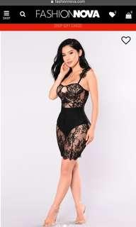 Fancy Lace Black Dress (Small)