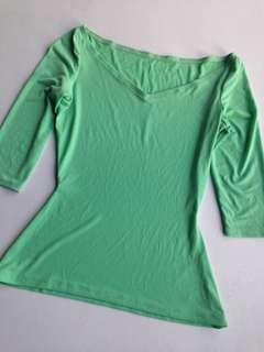 Mint green top (with stain)