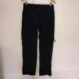 Columbia Black Ridge Zip Convertible Pants Ladies Size 6