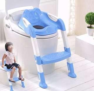 Kid Training Potty Seat with Ladder Step Up Stool