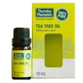 THURSDAY PLANTATION 100% PURE TEA TREE OIL (10ml/ 25ml/ 50ml/ 100ml)