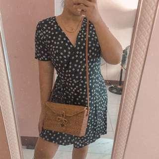 Dainty wrap dress