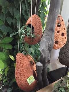 Terracotta hanging pots