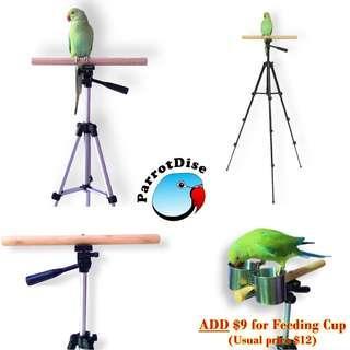 Parrot Bird Tripod Stand
