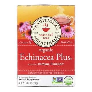 🚚 Traditional Medicinals Seasonal Teas Organic Echinacea Plus Naturally Caffeine Free 16 Tea Bags