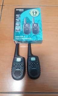 2 ways radios / walky talky 19 km