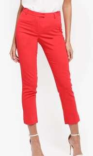 Miss Selfridge Red Trousers
