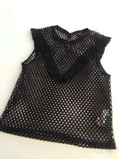 Forever 21 black see through sleeveless