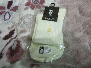 🚚 POLO黃色棉質彈性纖維襪