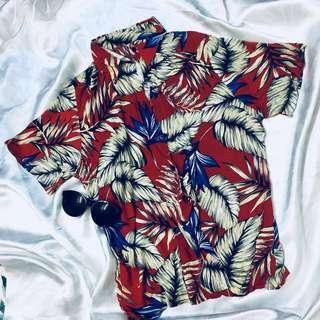 Red Unisex Hawaii Shirt #xmas25