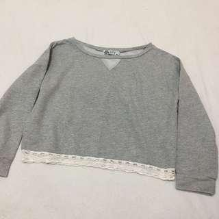 Just G Gray Cropped Sweater