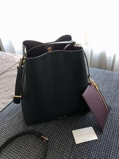 Charles & Keith Black Bucket Bag