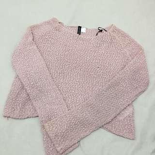 H&M Pink Fur Sweater
