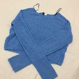 H&M Blue Fur Sweater