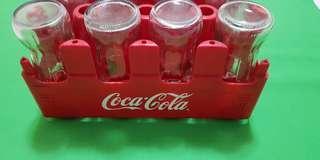 Coca Cola Glasses In a Crate