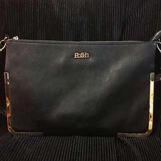 U.K. Famous Brand Faith Real Leather Clutch / Handbag