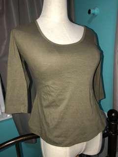 Khaki mid length top