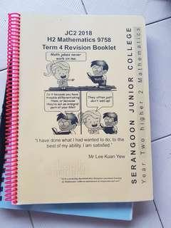 H2 Math revision booklet