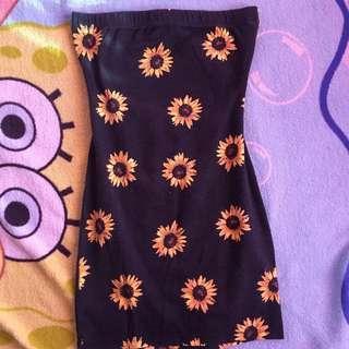 Forever21 Sunflower Bodycon Dress